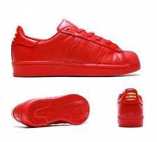 Adidas Superstar pharell Williams Rojo Supercolor Juniors Para Mujer Chicas Shell Toe