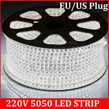 Tira de Led 220v SMD 5050 IMPERMEABLE Blanco Frio Waterproof 60Led/m IP67 strips