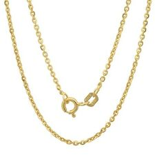 """925 Sterling Silver Cable Chain Necklace for Pendant 16"""",18"""",20"""" 18K Gold Plated"""