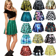 2015 Womens High Waist Pleated Retro Short Mini Skirt Flared Cheerleader Dress