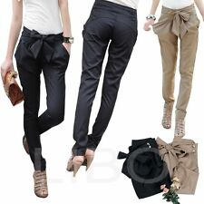 women's Skinny Long Trousers OL casual Bow-knot harem fashion slim Comfy pants