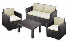 4 Piece Outdoor Chair Lounge Garden-Patio Sofa Furniture Set