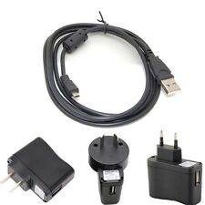 1A USB AC/DC Power Adapter Cord Camera Battery Charger for Olympus VG-120 VG120