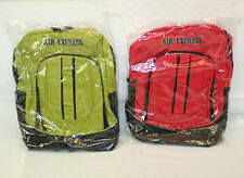 "Air Express 13303 16½"" Denier Backpack, School Bag, Bookbag w/ Mesh Side Pockets"