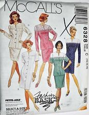 McCalls Sewing Pattern #6328 Misses One or Two Piece Dress Vtg Choose Size