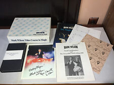 Lot of Magician Supplies Mark Wilson Video Course in Magic Books Bill Tarr VHS