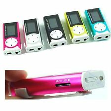 USB Mini Clip MP3 Player Support 16GB Micro SD TF Card LCD Screen With LED Light