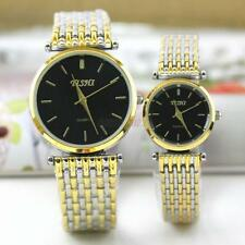 Classic Womens Mens Couple Lover Stainless Steel Quartz Wrist Watch Watches B37