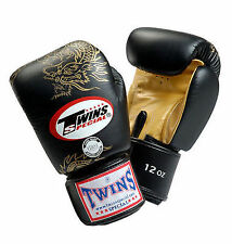TWINS SPECIAL MUAY THAI BOXING GLOVES DRAGON 8oz 10oz 12oz 14oz 16oz - NEW