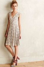 ANTHROPOLOGIE Maeve Brushed Lace Dress Valentine's Day Work Wedding Bridal Party