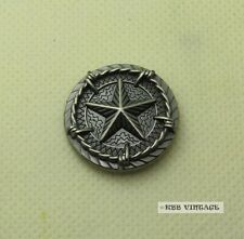 【Star Concho】1' Western Texas Saddle Star Concho with Barb Wire Antique-Silver