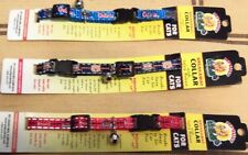 NCAA Pup-Rally Collegiate Reflective Adjustable Cat Collars w/Bell NWT