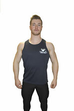 Naturally Sculpted muscle Bodybuilding Fitness Gym Vest NAVY BLUE