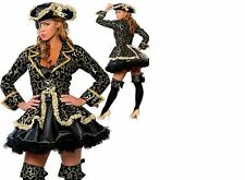 WOMANS LADIES SEXY DELUXE PIRATE COSTUME HEN DOO FANCY DRESS PARTY SIZES M - XL