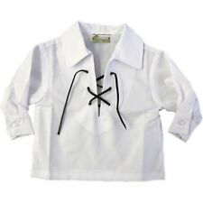 Tartanista Baby White Jacobite Scottish Ghillie Shirt Ages 0 - 24 Months