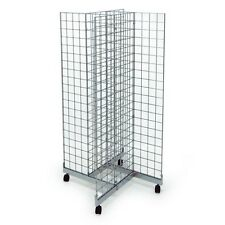 New 4 Sided Mobile Chrome Mesh/ gridwall Display Unit