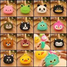 Cute Cartoon Animal Silicone Coin Purse Wallets Rubber Cosmetic Bag Hot