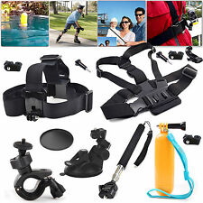 EEEKit Accessories Kit for Sony Action Cam Head/Chest/Sunction Cup/Floaty Mount