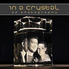 3D CRYSTAL PHOTO // UNIQUE CANDLE HOLDER  // PERSONALISED GIFTS !!