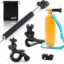 EEEKit 5in1 Accessories Kit for Action Sports Cameras Selfie Stick Pole+Mounts