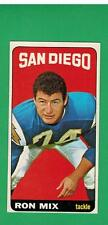 1965 TOPPS FOOTBALL 168 RON MIX   SAN DIEGO CHARGERS EX       VN 168A