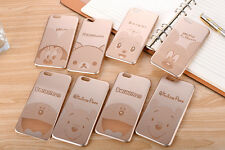 Ultra Thin Gold Cartoon Cute Hard Case Cover For iPhone 6 Plus 4S 5S For Samsung