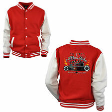 Varsity Hot Rod College Jacket Baseball Retro Car Rockabilly-kustom 1062