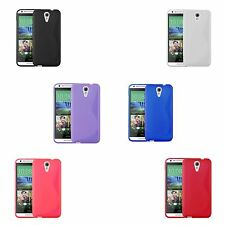 HTC DESIRE 620 S-LINE SILICONE GEL COVER CASE AND SCREEN PROTECTOR