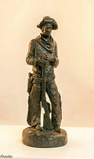 "Collectable Vintage Michael Garman ""The Wrangler"" Cowboy Statue Signed 1971 ,"