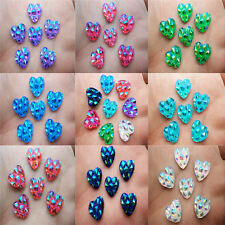 NEW 40PCS 12MM AB Resin Heart flatback Scrapbooking for phone / wedding,Crafts