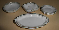 VINTAGE EDWARDIAN DOLL DISHES 5 PIECES GREAT PLATTER CA 1900-1920