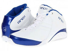 AND1 AND 1 Mens D1051MWWM Rocket 3.0 Mid Basketball Shoes [ White / Blue ]