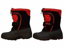 NWT Boy's Totes kids red black winter snow boots ~ 6 7 FREE SHIPPING!