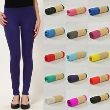 **2 FOR £5** Girls Kids Leggings Plain Full Length Dance Stretch Teen 3-13 Year