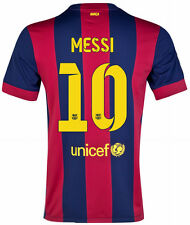 NIKE LIONEL MESSI FC BARCELONA HOME JERSEY 2014/15 FOOTBALL LA LIGA SPAIN.