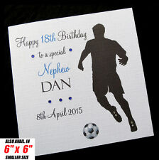 """Personalised 8"""" FOOTBALL Birthday Card Dad Brother Son Husband Uncle Son-in-law"""
