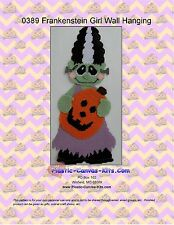 Frankenstein Girl Wall Hanging- Halloween-Plastic Canvas Pattern or Kit