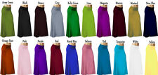 Solid Long Maxi Fold Over Skirts
