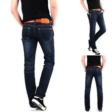 NEW Designer Fashion Mens Slim Fit Skinny Jeans Straight Jean Pants Trousers