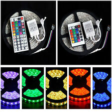 Waterproof 5M 16FT RGB 12V 5050 SMD LED Strip Light 150LEDS + 24/44Key IR Remote