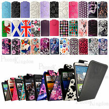 PU Leather Magnetic Flip Case Cover For HTC Mobile Phones+Free Screen Protector