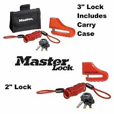 "MasterLock Disc Brake Lock 2"" 3"" Motorcycle Chopper Anti Theft Victory Buell"