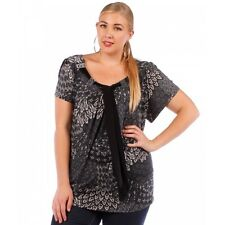 New Women's Plus Size Black Charcoal Tunic (Top) Sizes 4X 5X 6X Made in USA