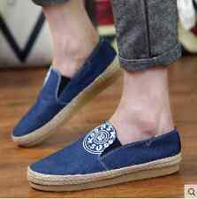 Fashion Loafer Slip on Casual Sneakers Driving Moccasins Canvas Men shoes J80
