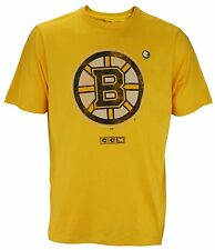 CCM NHL Hockey Men's Boston Bruins Vintage Graphics Short Sleeve T-Shirt, Yellow