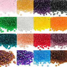 Lot of 340 Matsuno Dyna-Mites 6/0 #6 Glass Spacer Seed Beads Transparent Colors