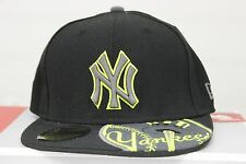 New York Yankees Melviz New Era Blk/Gry/Neon 59 Fifty Fitted Hat Authentic