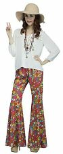 Groovy 60's Flower Power Hippie Peace Bell Bottom Pants Adult Costume Accessory
