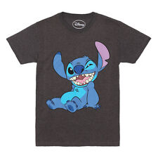 Disney's Lilo & Stitch Winky Stitch Adult Cartoon T-shirt - Charcoal