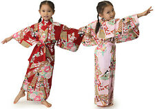 Japanese Kimono Girl's Robe Dress Noshi and Girls #YC883 Cotton Oriental Gift